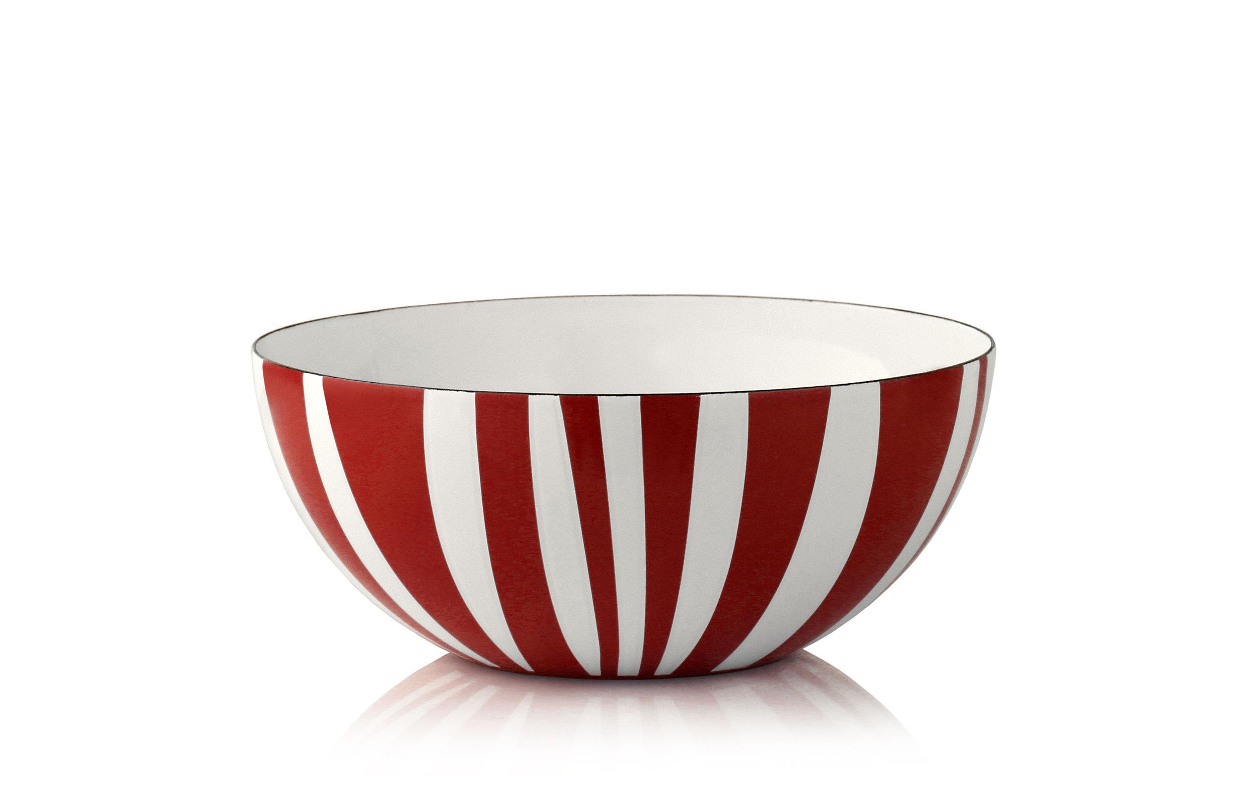 20 cm - Stripes kolleksjonRød