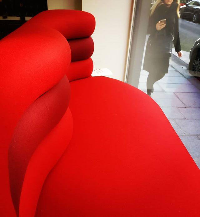 Formes sinueuses - Bravo au magnifique travail de notre tapissière Élise!