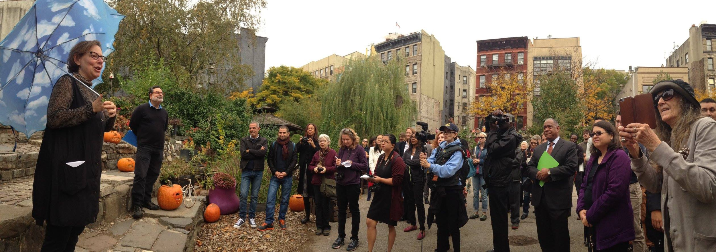 Gardens Rising  launch, 2015. Wendy provided maps and strategy that led to this $2 million New York State green infrastructure grant.