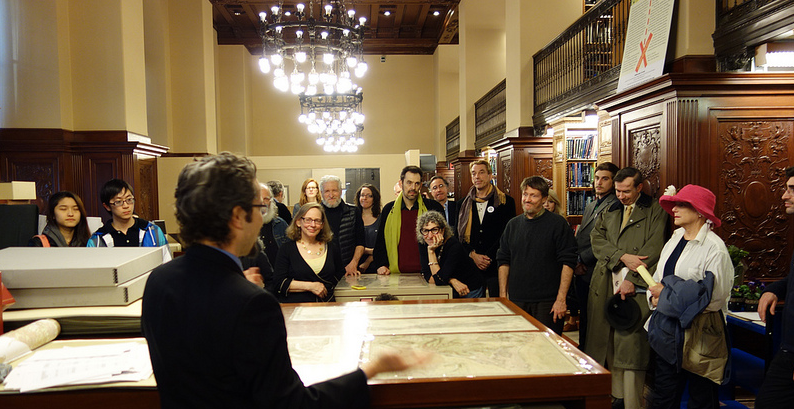 Green Map Archives launch event at the New York Public Library's esteemed Map Room, 2013