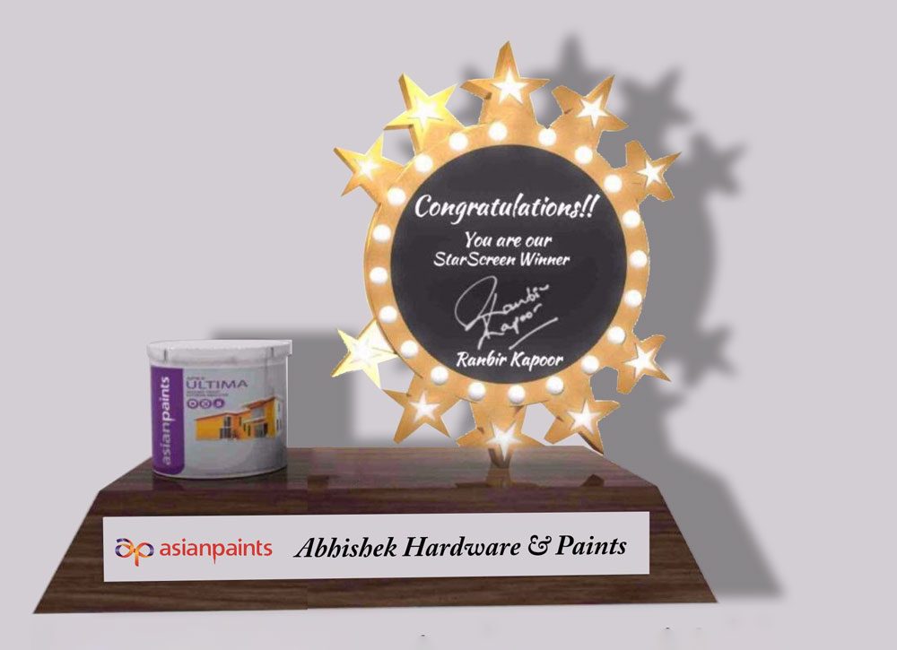 #7. Interactivity - Can an award or a trophy be interactive? Yes, it can. Earlier this year, for example, we worked with Asian Paints to create awards that contained a miniature rotating paint can powered by a motor. We also had an LED illuminated plaque as part of it. Then we worked with Kotak Mahindra Bank on a souvenir with a battery-powered light-sensor that triggered off the national anthem every time the box was opened! In fact, with augmented reality now becoming more usable, we are already pitching AR-enabled awards that can be paired with a mobile app in order to create something truly unprecedented.