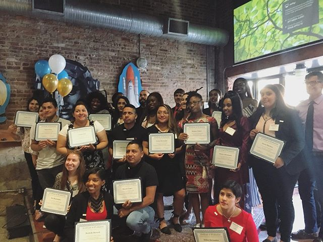 Last night some of our LP alumni graduated from @newfuturesdc scholarship program! Congrats Gloria, Adriana, Nataly, Manuel, and Celia! YOU are our America and we can't wait to see what the future has in store for you! . . . . . #ThisIsOurAmerica #LibertysPromise
