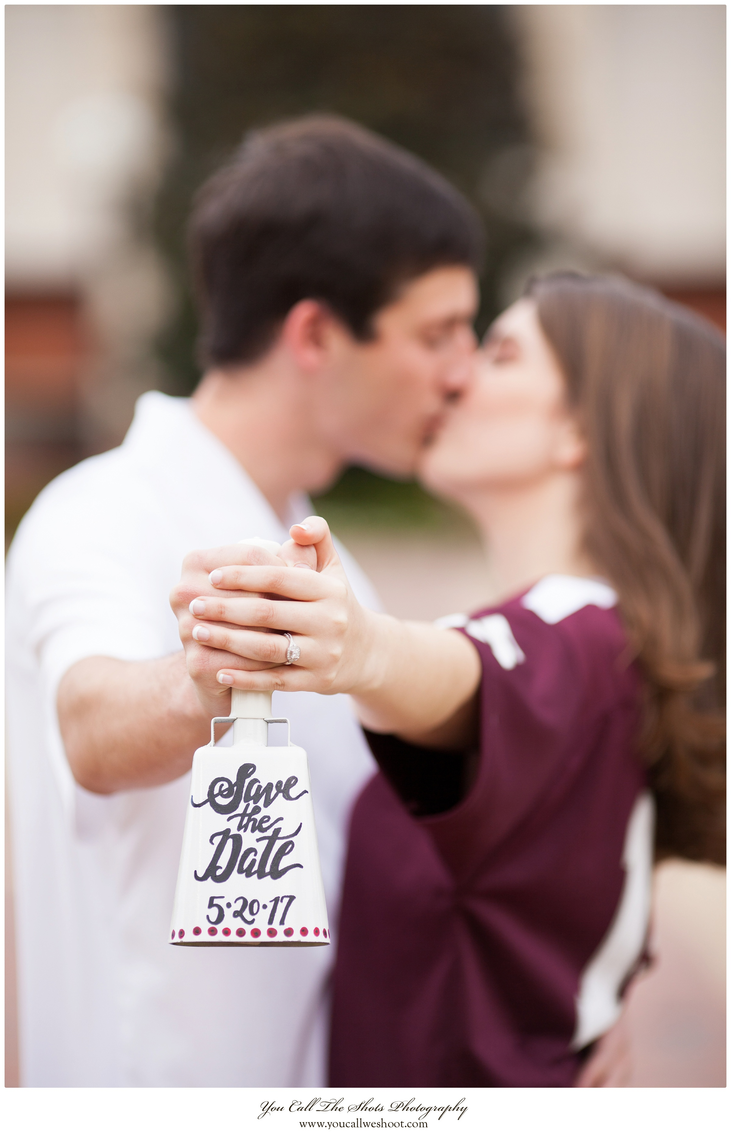 I love love LOVE cowbell engagement photos! They're almost a Mississippi State classic!