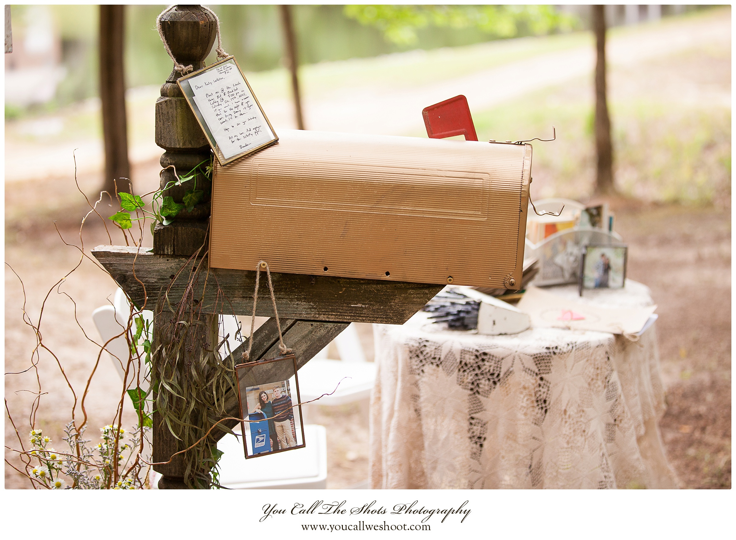 This mailbox told the story of how Katy-Whitten and Brandon's love grew through their letters.