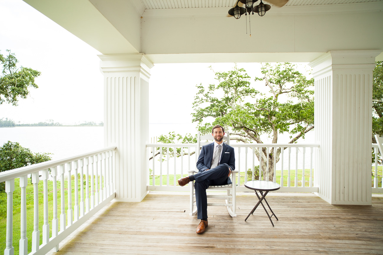 Doesn't Kyle look at home on this amazing porch?