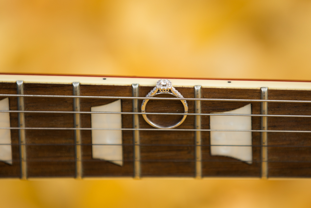 This ring and guitar portait was all Alexis' idea! I LOVE how it turned out!