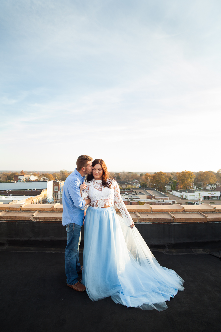 We had such an incredible time taking these rooftop engagement portraits!