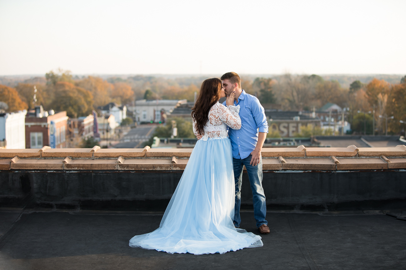 Alexis wore this amazing lace blouse and flowy skirt for their rooftop portraits, and it was EVERYTHING.
