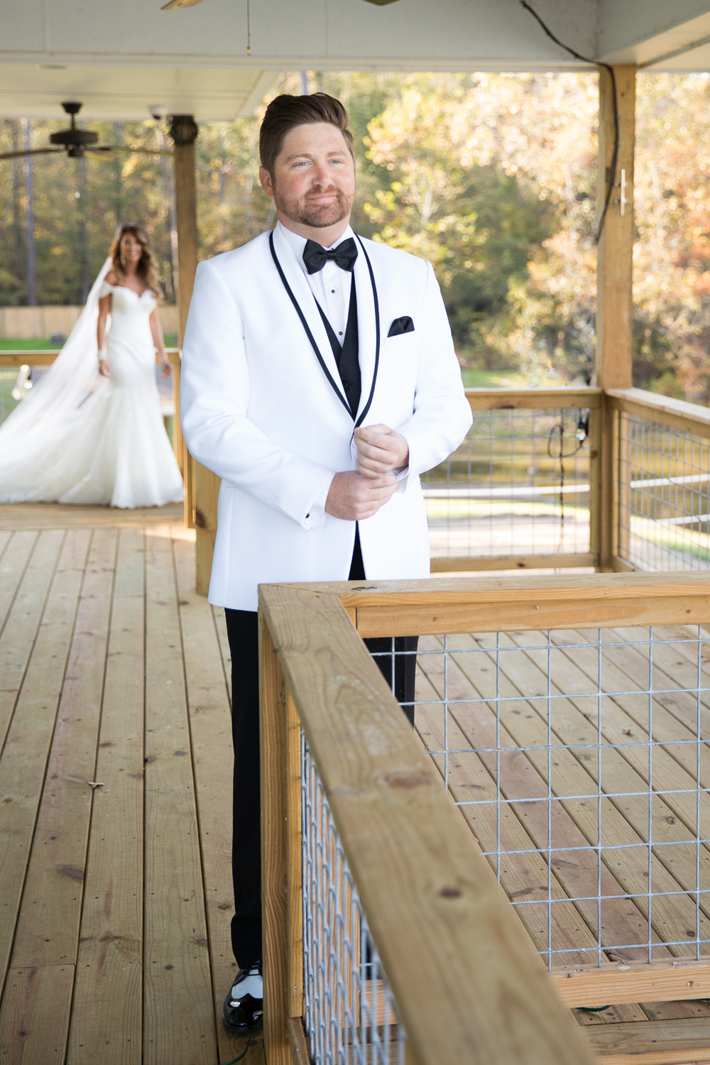 Yes, this moment is precious, but let's all just take a second and admire how Michael is rocking that white tux from The Bride and Groom Bridal Boutique!