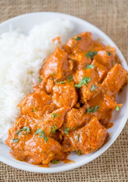 indian butter chicken - dinnerthendessert.com