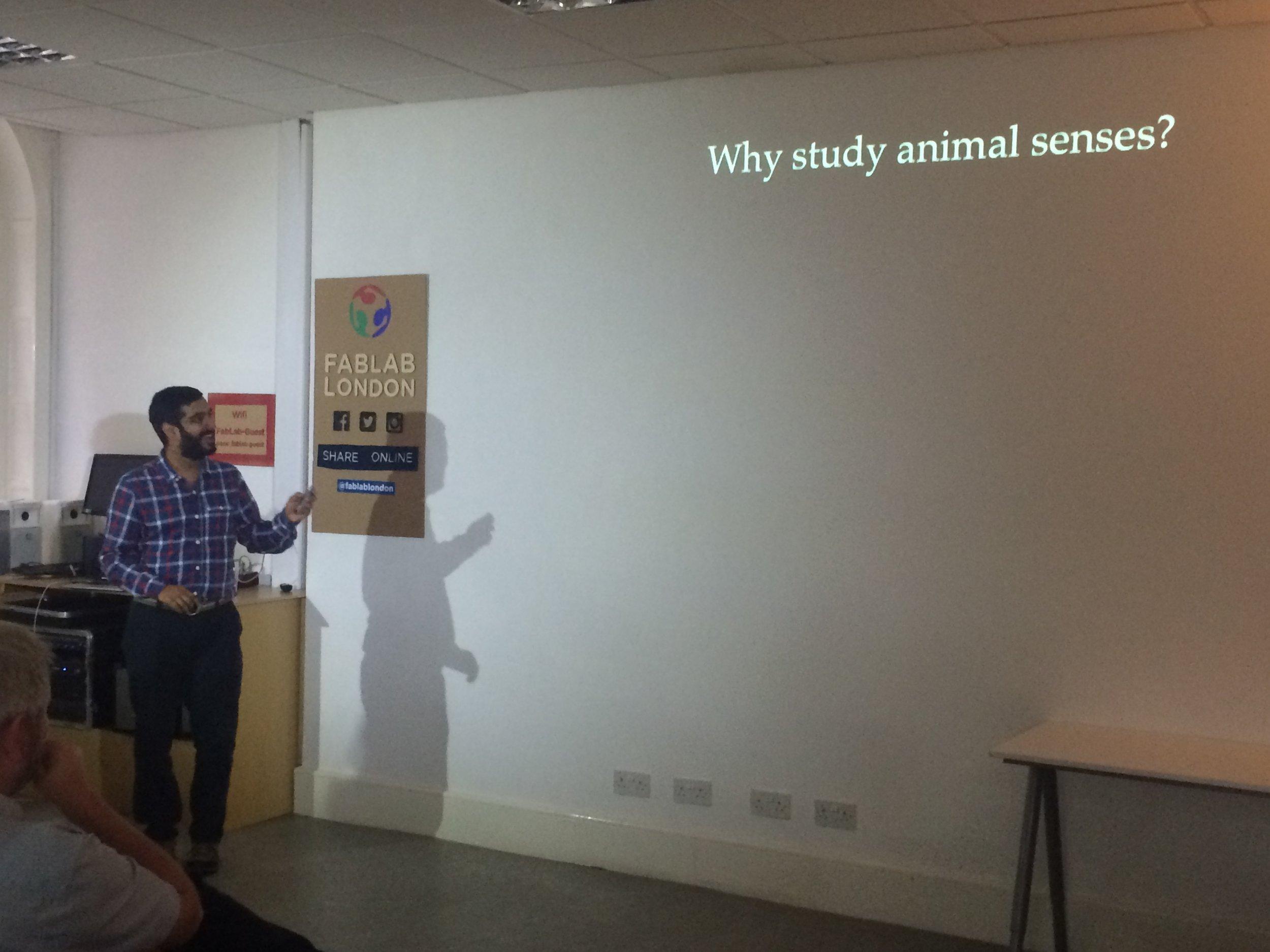 Copy of Dr Vivek Nityananda introducing the topic of animal senses