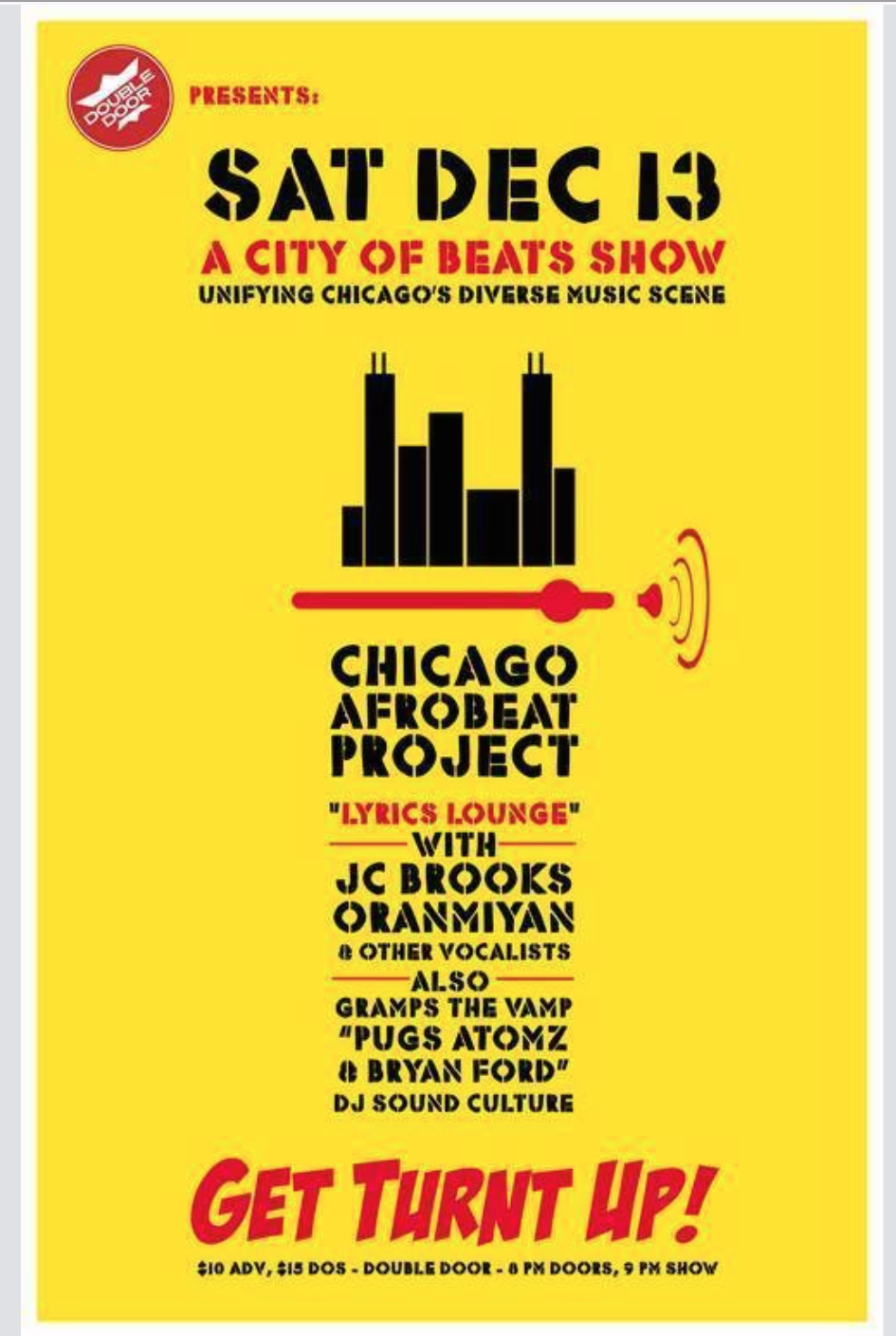 Bryan Ford Pugs Atomz Chicago Afrobeat Project