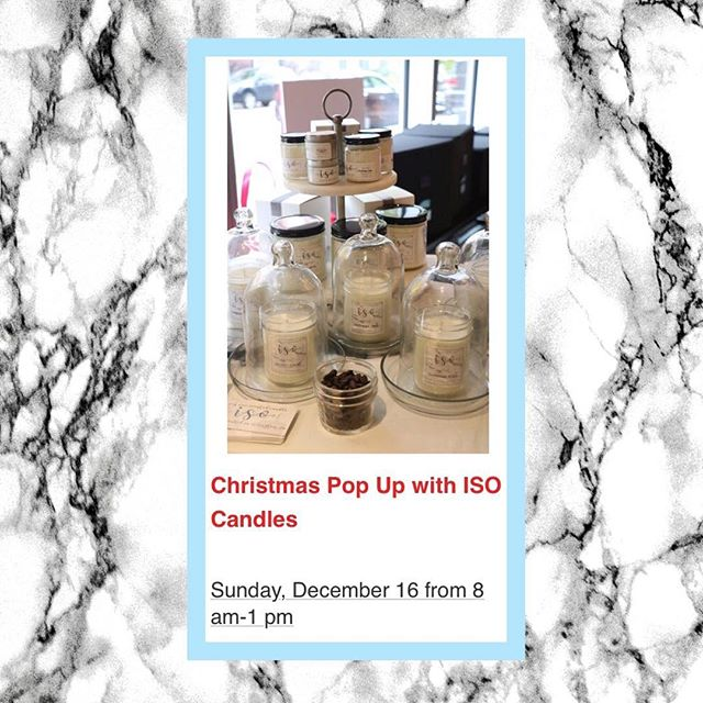 Last event of the year! Come by @purebarre_arlingtonva on Sunday, December 16 to finish off your holiday shopping! . . . . . #candles #soycandles #etsy #handpoured #womanowned #isocandles #iso #smallbusiness #arlingtonva #shoplocal #dc #dmv