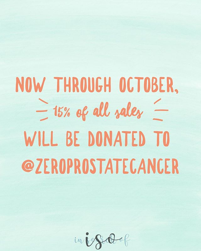 Now through October, 15% of all sales will be donated to @zeroprostatecancer, a local non-profit we're running the @chimarathon in support of!