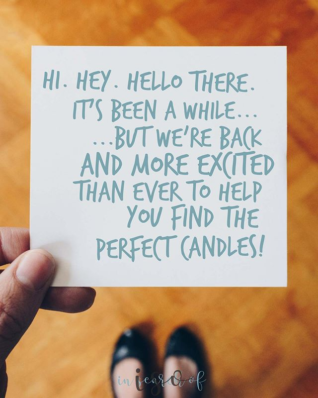 Have candle questions? Need scent recommendations? Let us know below! 👇🏼 don't forget! 25% off site wide with code WEAREBACK