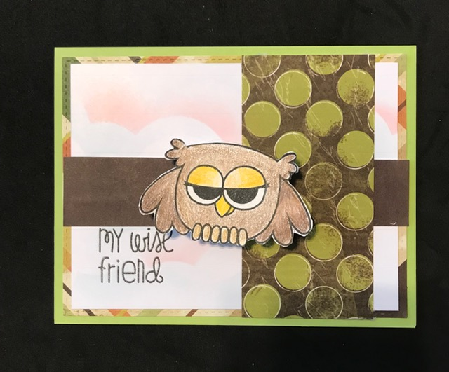- I just love how this card turned out! Yes, it is an ACTION WOBBLER!! i just love it! The owl has become one of my favorite images.