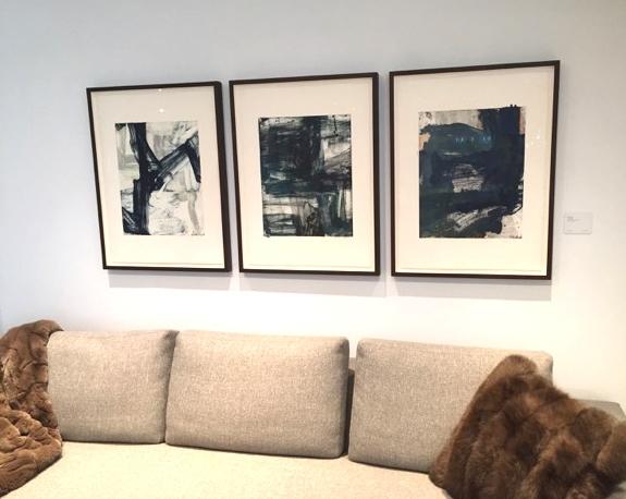 Mark Saltz. Monoprints. Holly Hunt showroom. NYC.