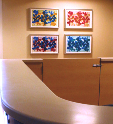 Nancy Azara monoprints. Montefiore Hospital. Bronx, NY