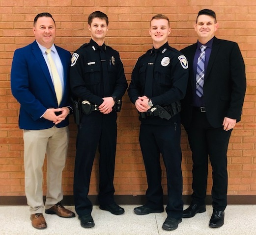 (Pictured: Detective Sergeant Ryan Turner, Officer Eric Emmons, Officer Marcus Dylan Root, Sergeant Michael McWilliams)