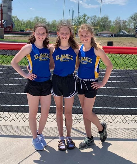 State Qualifier: Ava Harrington- Hurdles ( 19.42 ) and 100M ( 14.06 ) Lily Keepes- 1600M ( 6:33.23 ) Sarah McCorkle- 7th grade 100M ( 14.12 )