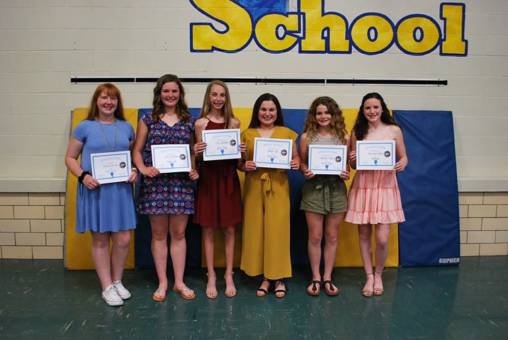 Volleyball A Team Award Winners: Savannah Zimmerman- Most Serves Lexi Stevens- Most Kills Lilly Gottman- Most Digs Anna Gill- Most Aces Camryn Strine- Most Digs Ava Harrington- Attitude