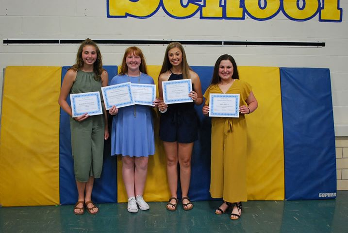 Girls Basketball Award Winners: Madison Stevens- Newcomer of the Year Savannah Zimmerman- Offensive Player of the Year and Free Throw Player of the Year Mady Young- Free Throw Player of the Year Anna Gill- Defensive Player of the Year