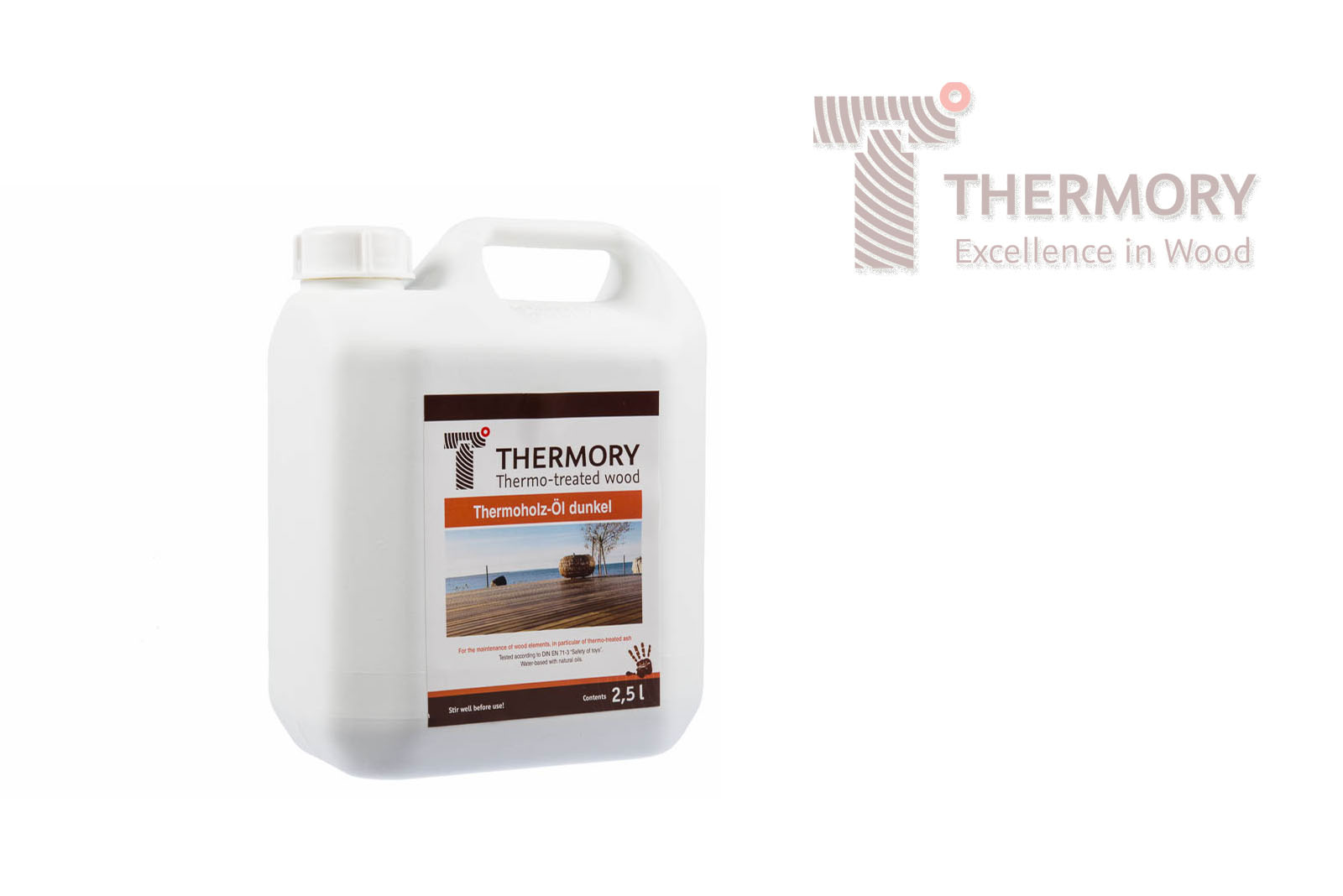 Wood Oil & End Sealer - Thermory® Thermo-Wood OilProduct InformationWater based blend of natural oilsWeather resistantDesigned for use with thermo-treated timberCoverage: Approx. 30/m2 tub (1 Coat)Available in dark pigment and natural shadesProvides a velvety coatingQuick dryingDeep penetratingFree of solvents/cobaltNo lamination or flaking riskTested to DIN EN 71-3 'Safety of Toys' Directive