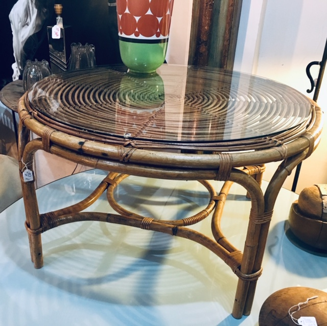 Mesa de centro de caña de bambú
