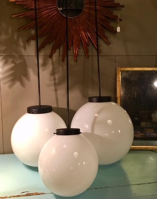 Lámparas globo opal