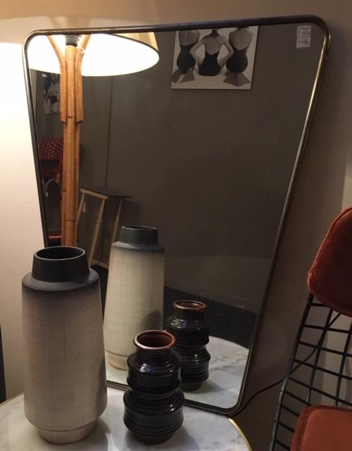 Espejo con marco níquel