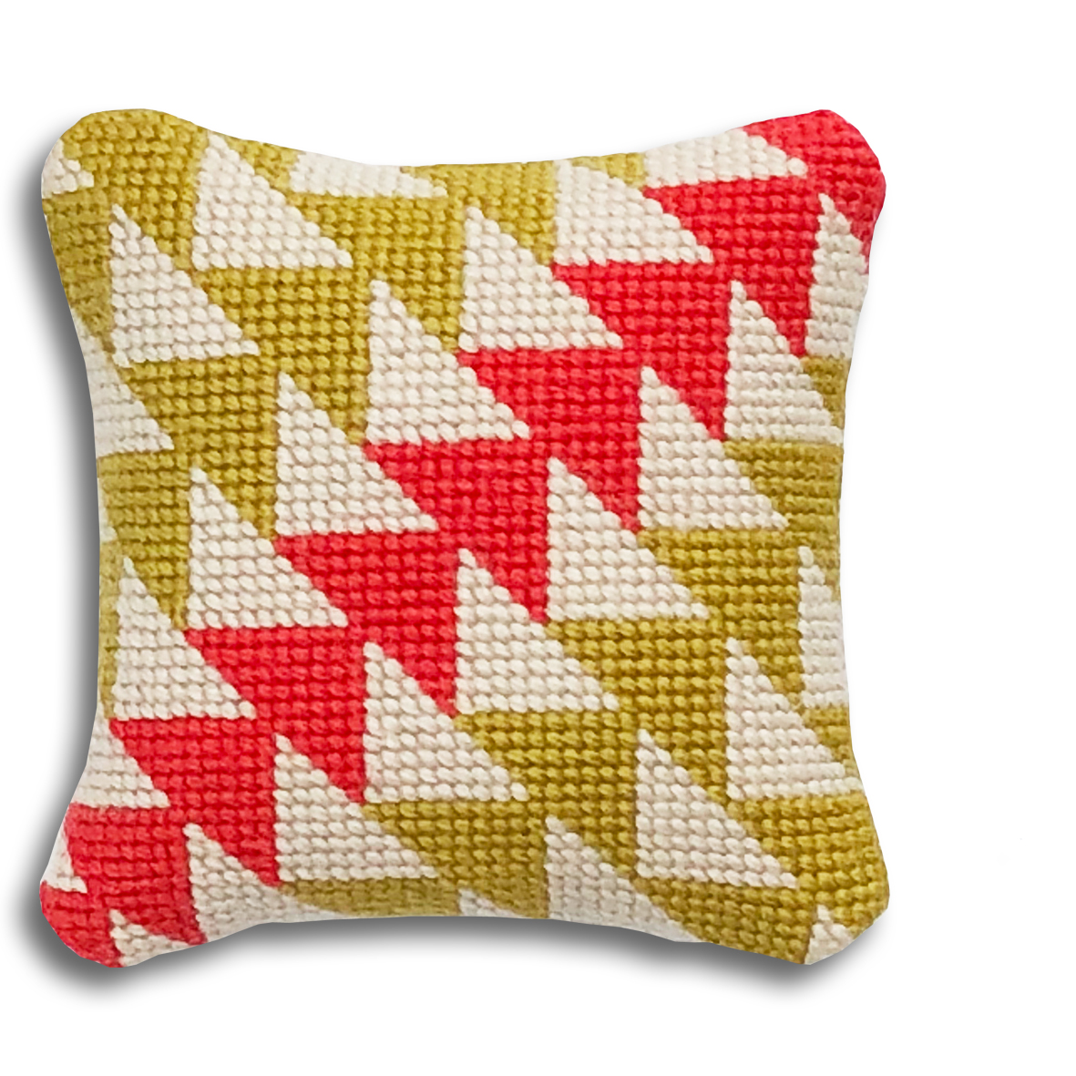 Geometric Triangles mini kit    Yellow and coral colourway  £16  (includes free UK postage)