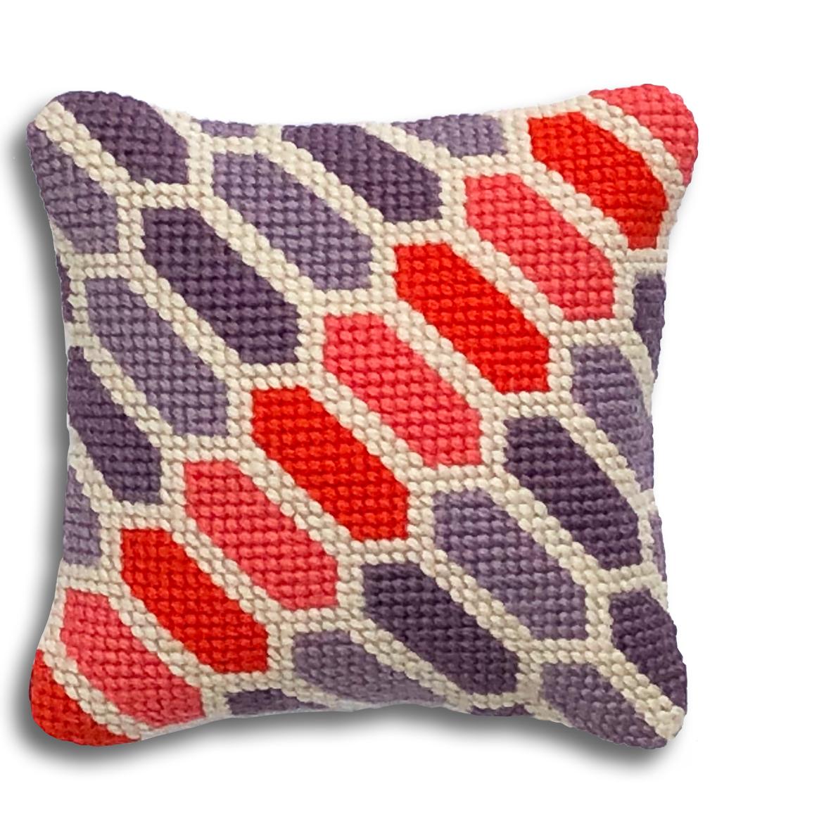 Geometric Hexagons mini kit    Mauve, orange and coral colourway  £16  (includes free UK postage)