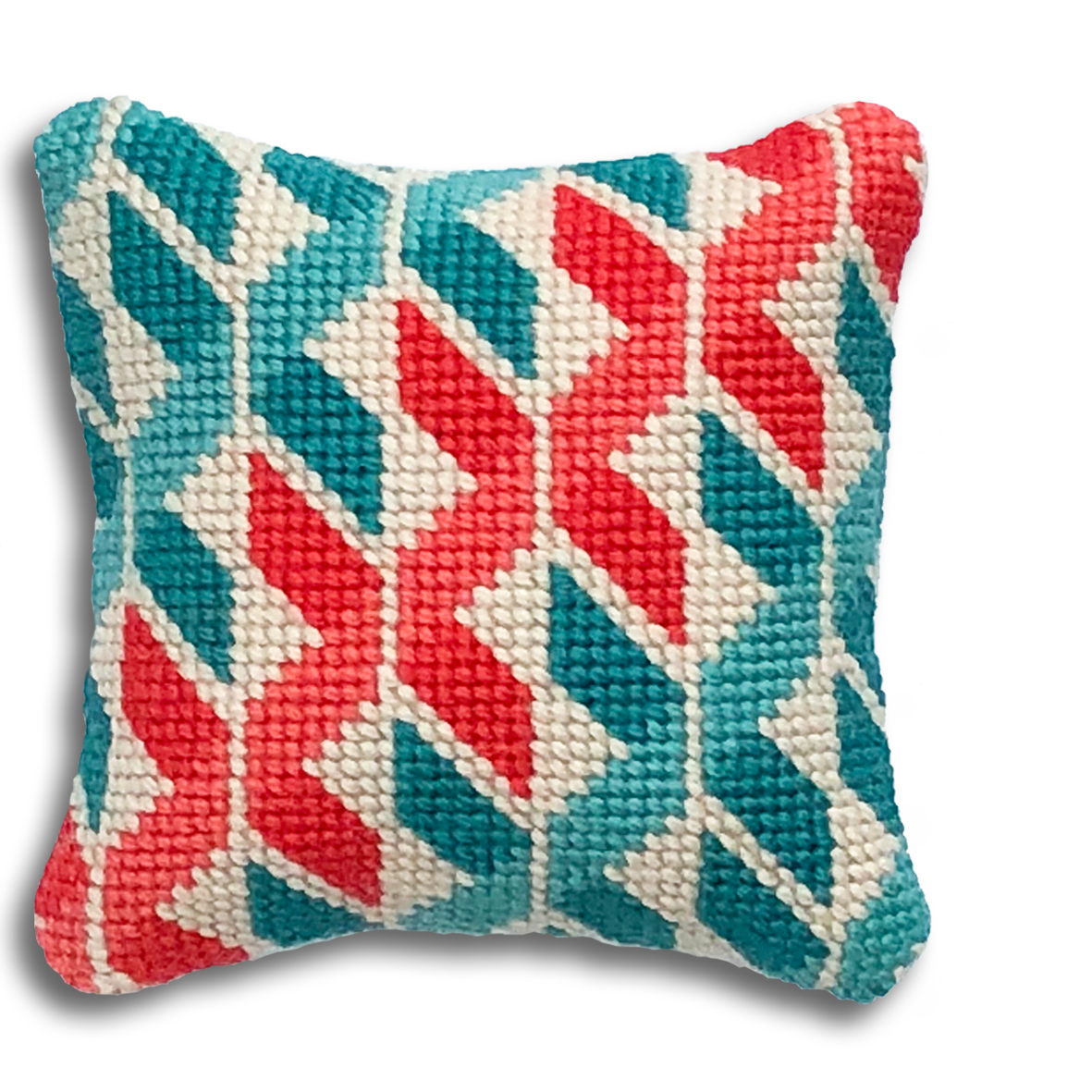 Geometric Twists mini kit  Turquoise and coral colourway  £16  (includes free UK postage)