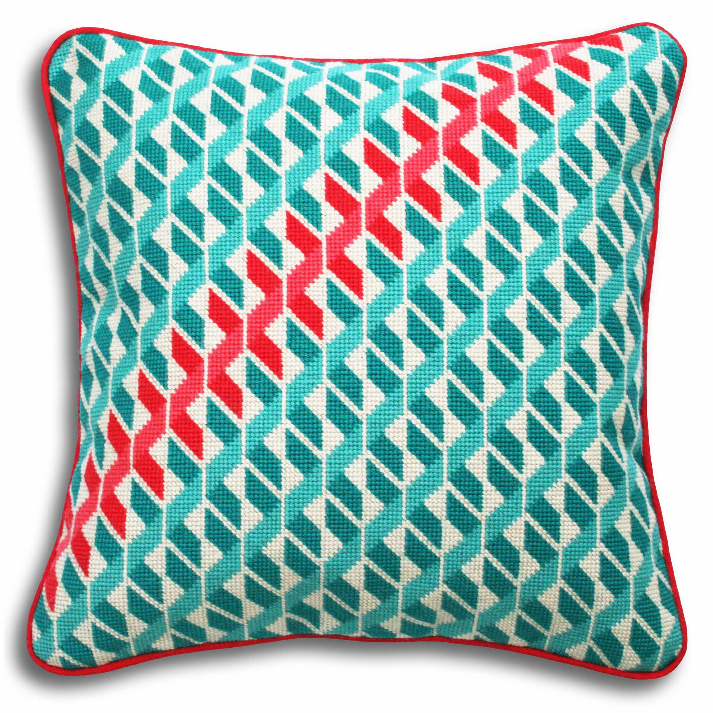 Geometric Hexagons Large kit  Turquoise and coral colourway  £52  (includes free UK postage)
