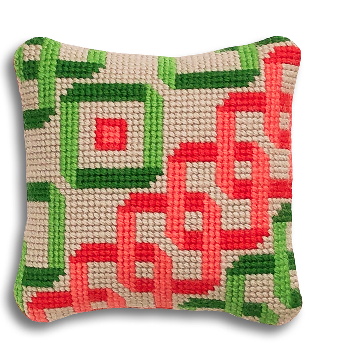 NEW! Interlocking Squares mini kit  Coral and green colourway  £16  (includes free UK postage)