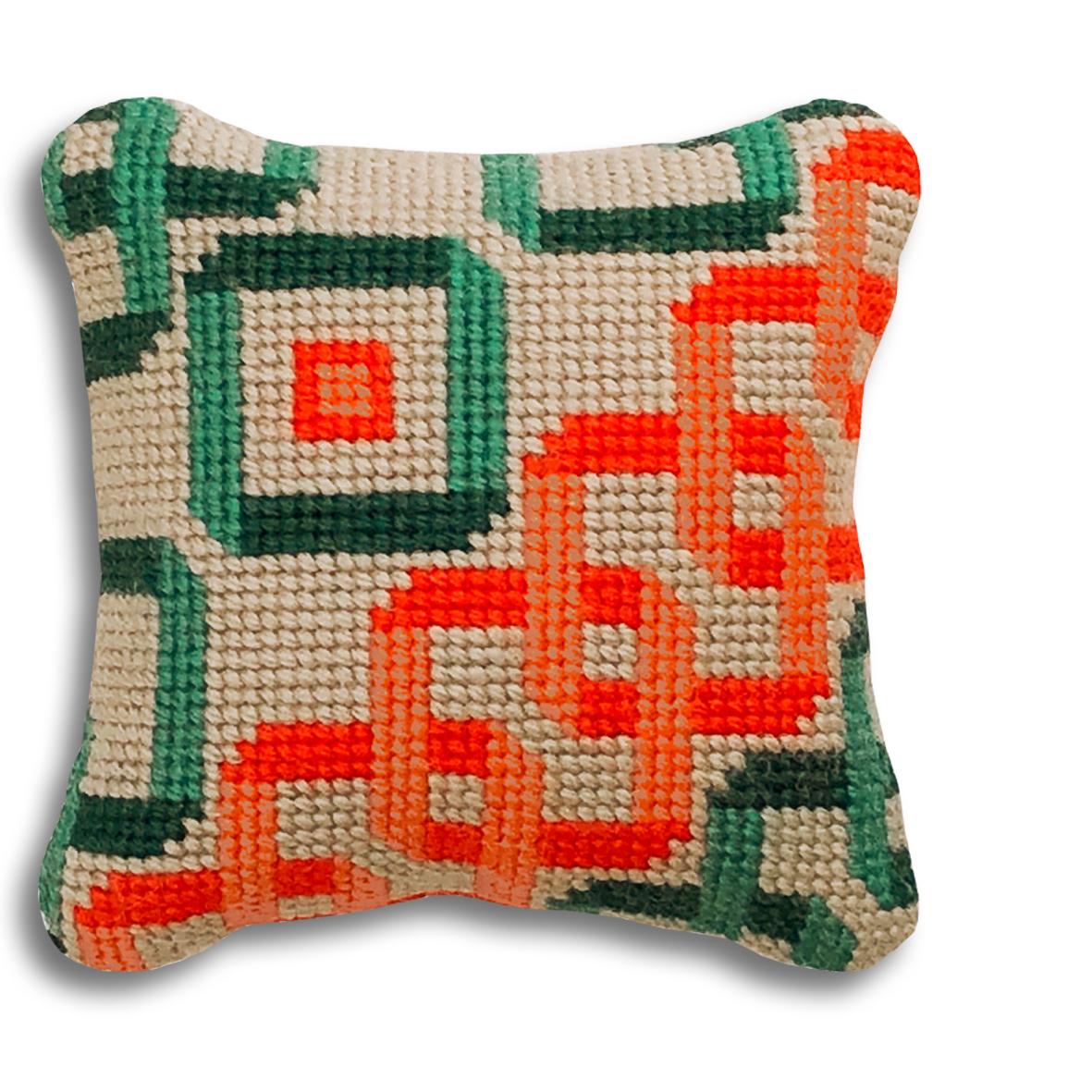 NEW! Interlocking Squares mini kit  Orange and turquoise colourway  £16  (includes free UK postage)