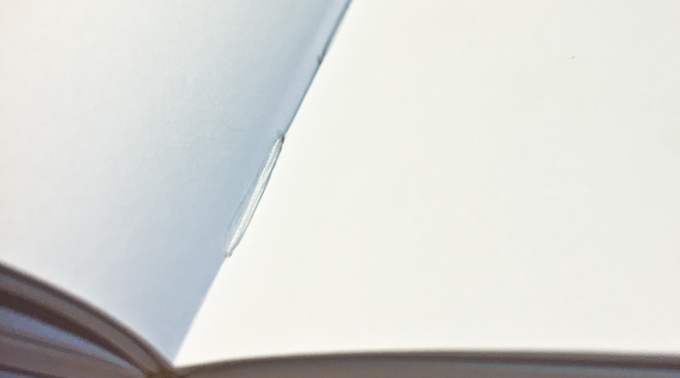 Smyth-sewn binding, 100lb text-weight paper, textured endsheets