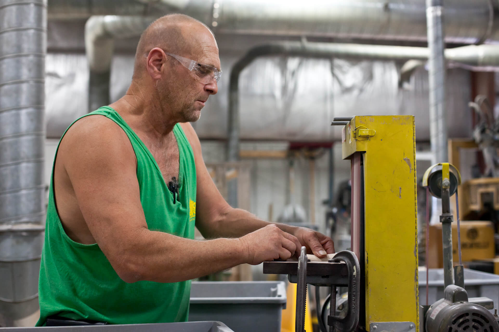 Jim Paulsen of AJS Tap Handles (Random Lake), the nation's largest tap handle manufacturer.