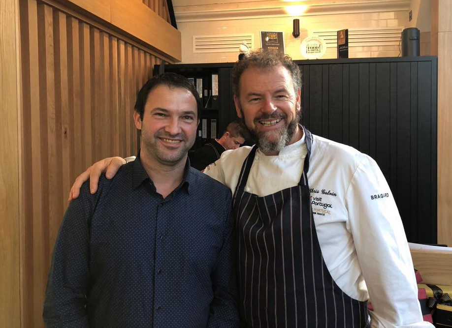 Hanging out with the stars! - Ioan with the brilliant Chris Galvin, multiple Michelin Starred chef and excellent chap.