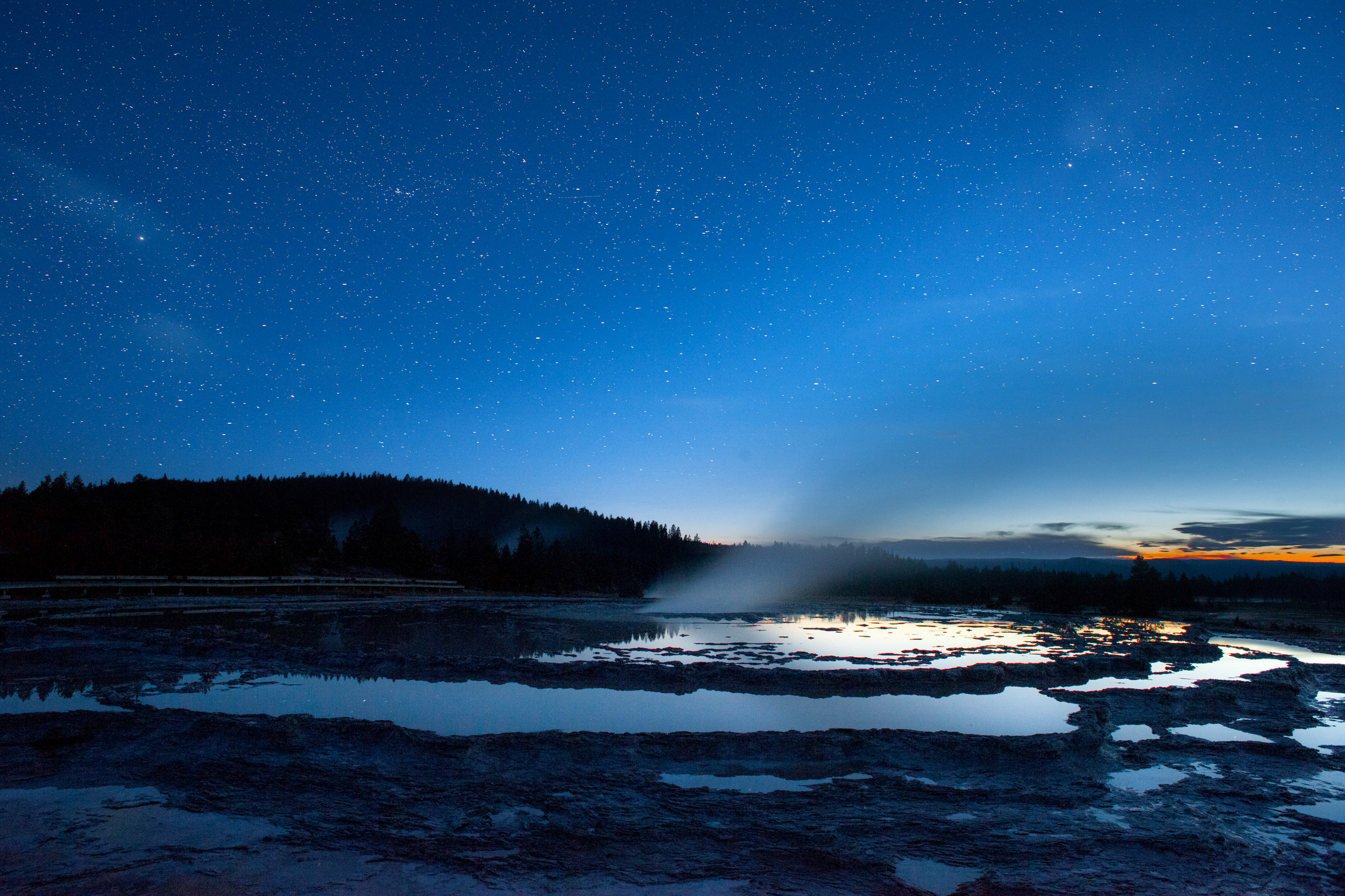 Finally A clear sky in Yellowstone NP