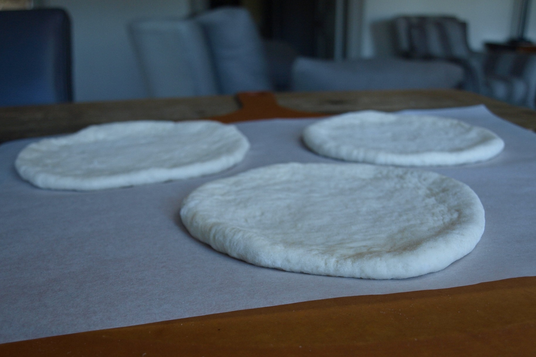 Rest the tangzhong pita before baking.