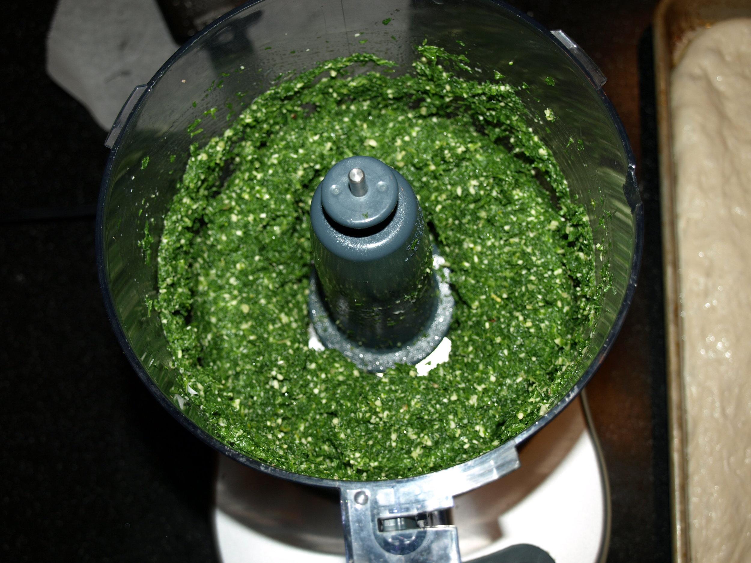 Mustard green pesto.