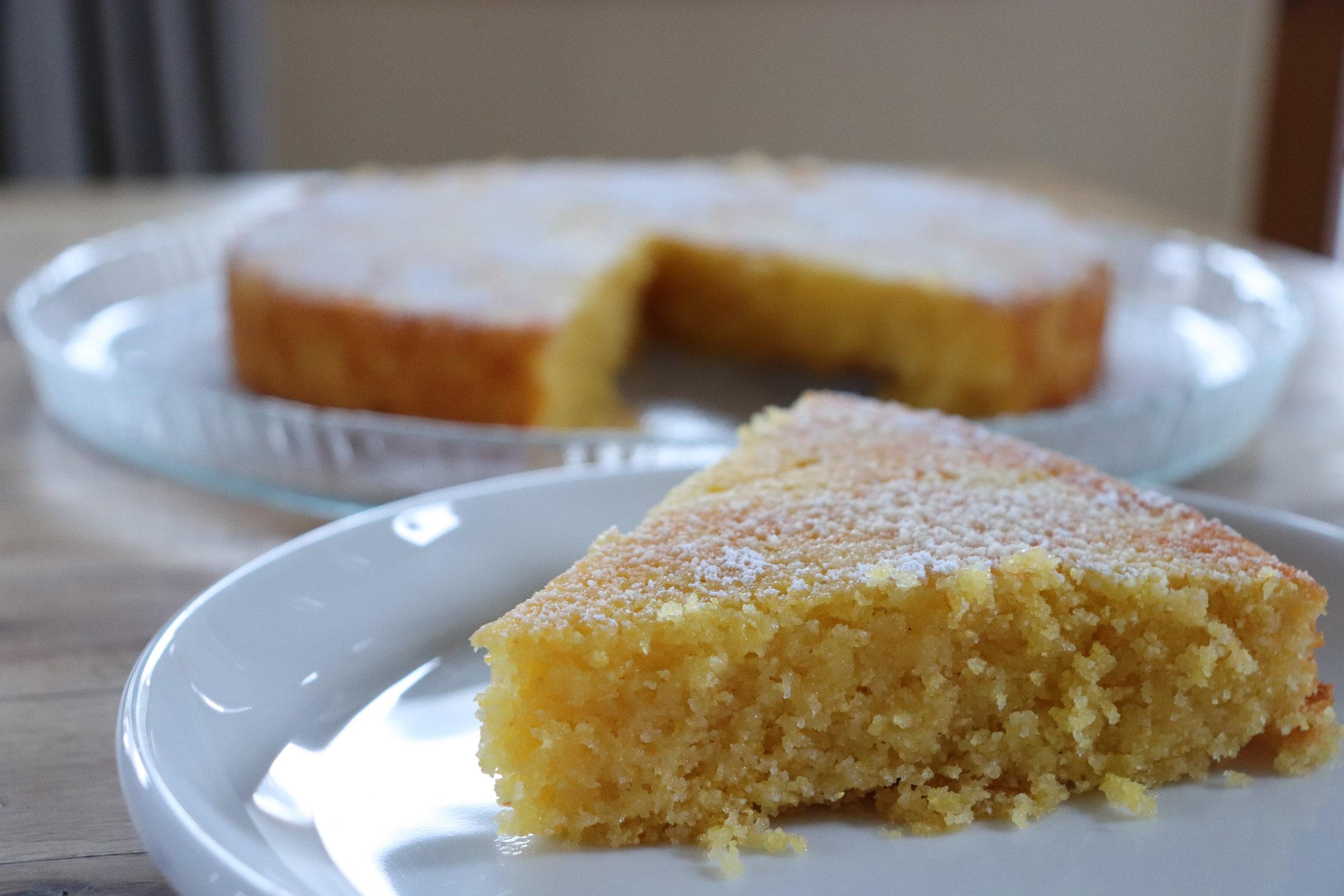 Lemon Cornmeal Cake