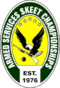 Our shoot emblem shown to the left is composed of the following: - The eagle symbolizing strength and tenacityA shotgun, the tool of our sportA clay pigeon, our shooting targetFive stars at the top, reflecting the five services of our members (Army, Marine Corps, Navy, Air Force, and Coast Guard).