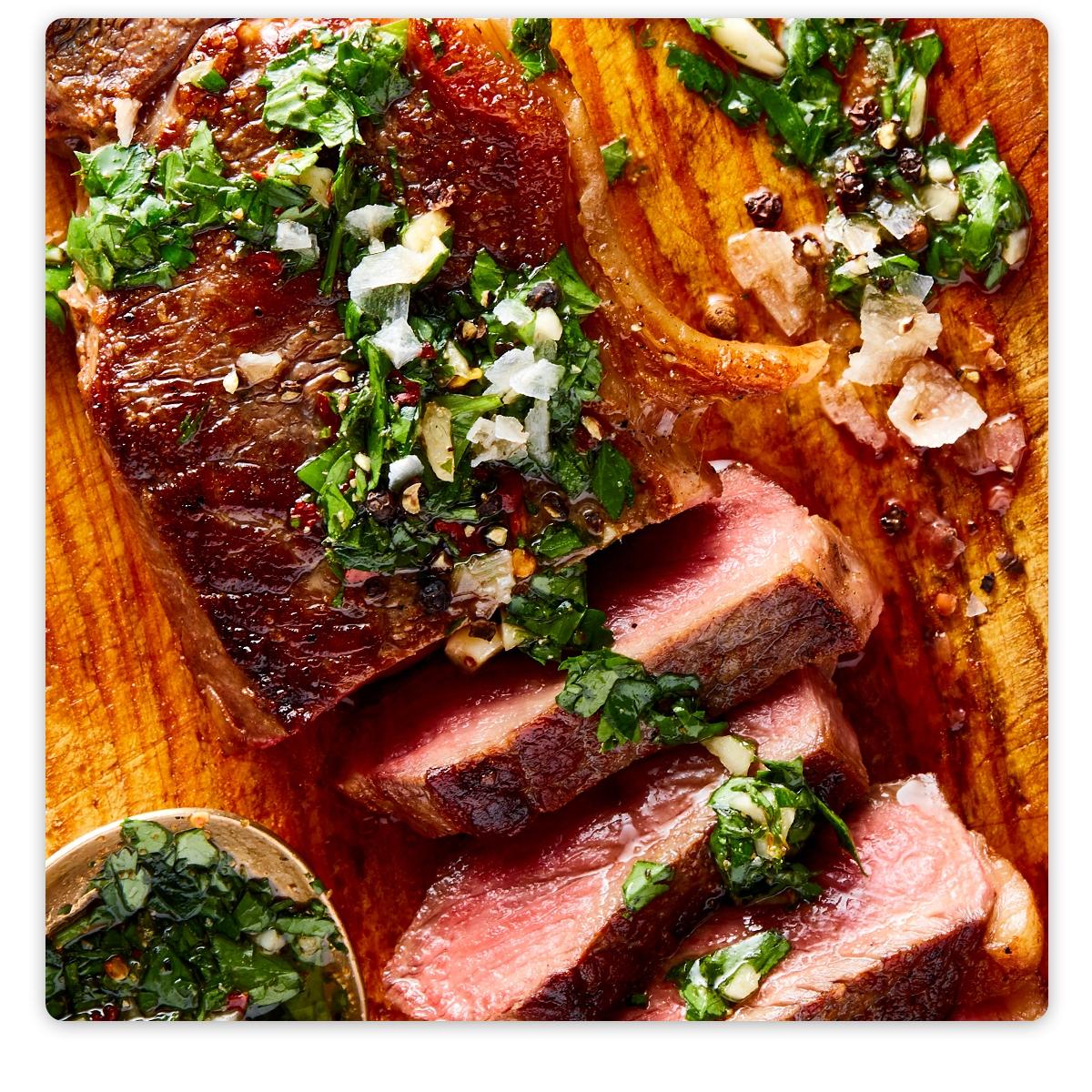 Premium Cuts Beef Box   8.125 lbs, 22 Servings, $5.08/Serving   • Grass-Fed Chuck Roast  (32-oz)  • Grass-Fed Center Cut Tenderloin Steaks  2 (7-oz) steaks  • Grass-Fed New York Strip Loin Steaks  2 (10-oz) steaks  • Grass-Fed Diced Beef for Stewing  (16-oz)  • Grass-Fed Ribeye Steaks  2 (8-oz) steaks  • Grass-Fed Ground Beef 85/15  (2 lb)