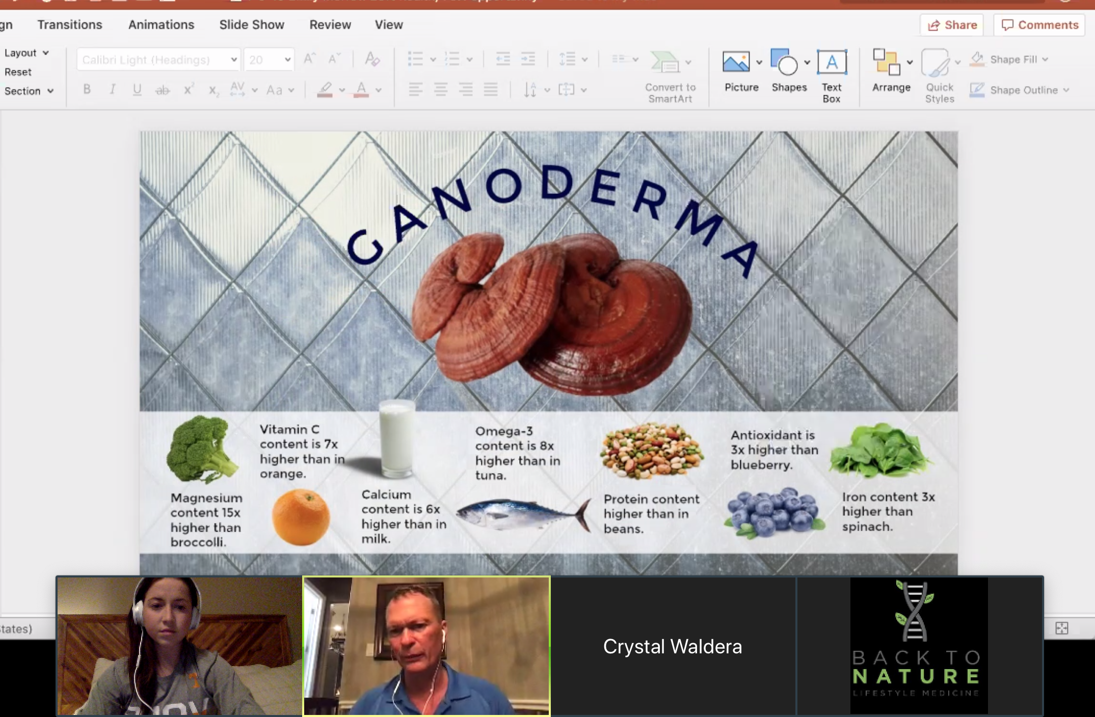 This picture is a screenshot from a recent presentation hosted by Dr. Bob on the benefits of Gandoerma. I am happy to send you the video for you to watch. Simply email info@theemilymorrow(dot)com or reach out via my  contact page  and ask for the Ganoderma Video.   I highly encourage everyone reading this watch it. You might find it can not only help you, but your loved ones as well.
