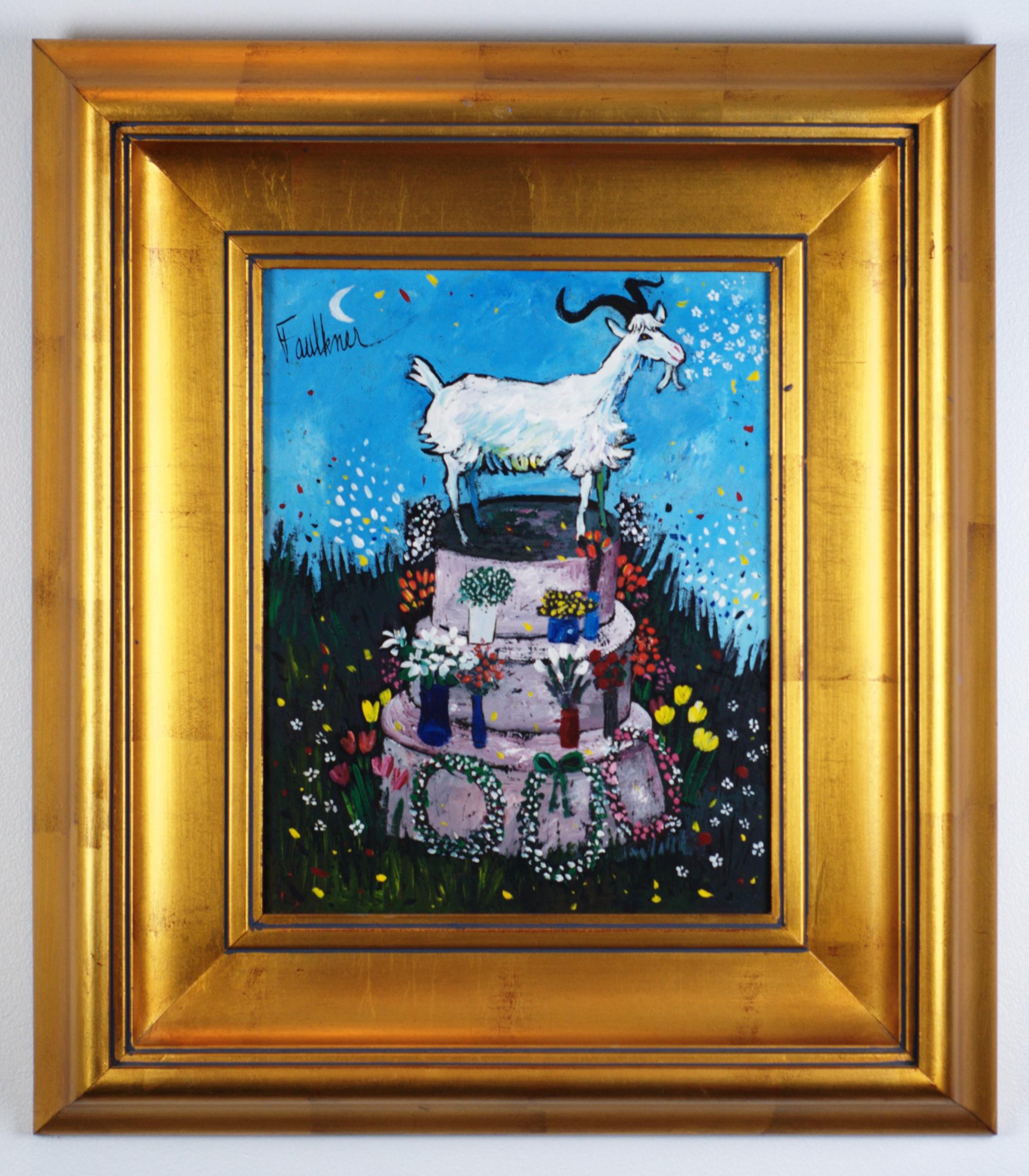 Alice's Birthday Cake - Henry Lawrence FaulknerAmerican (1924-1981)Oil on Board, c. 197020