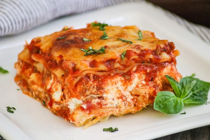 LASAGNAs - VegetableSpiced Lamb Italian Sausage Spinach
