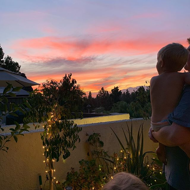 Ross has started this new thing where he announces that its time to go look at the sunset and we all go look at the sunset — half-eaten plates of dinner and sort-of started homework can wait. I like him a lot.