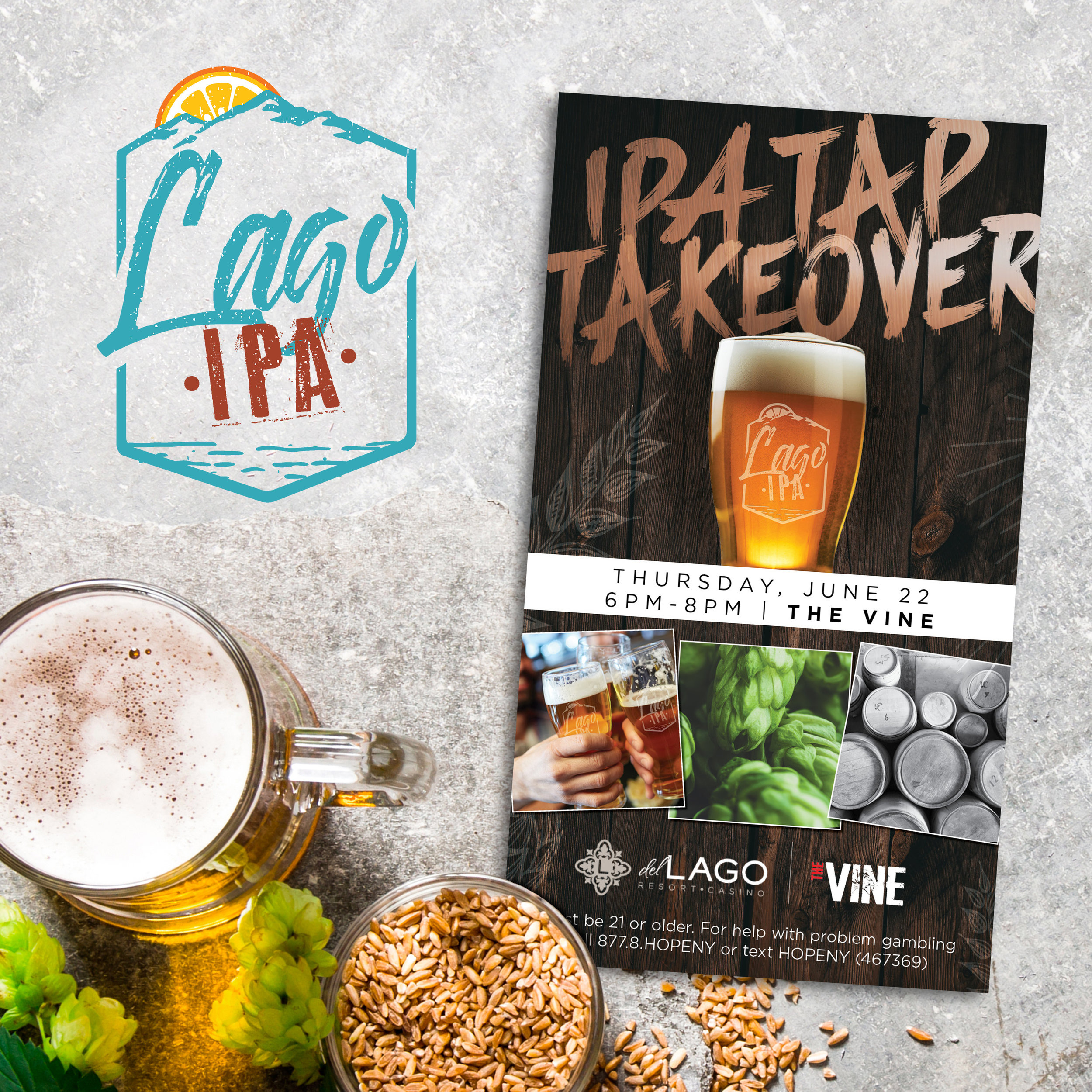 del Lago Resort & Casino: Lago IPA Branding